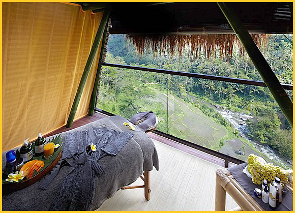 tree spa with view at mango tree spa